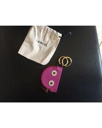 Porte-clés cuir verni rose Lancel en coloris Pink