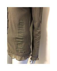 Gilet, cardigan viscose kaki John Galliano en coloris Green