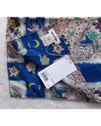 Foulard soie multicolore Zadig & Voltaire en coloris Blue
