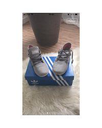 Baskets nubuck gris Adidas en coloris Gray