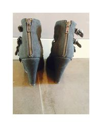 Escarpins à bouts ouverts tissu noir The Kooples en coloris Black