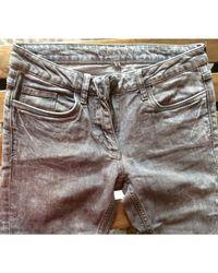 Jeans slim coton gris Sandro en coloris Gray
