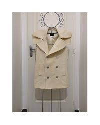 Manteau laine blanc Jean Paul Gaultier en coloris White