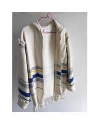 Gilet, cardigan laine blanc Sandro en coloris White
