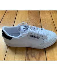 Baskets cuir blanc Adidas en coloris White