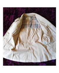 Saharienne coton beige Burberry en coloris Natural