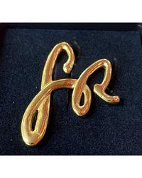 Pin's métal doré Sonia Rykiel en coloris Metallic