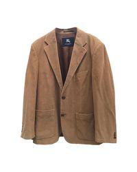 Veste coton marron Burberry pour homme en coloris Brown