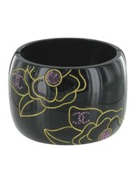 Bracelet résine noir Chanel en coloris Black