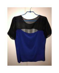 Blouse soie bleu Sandro en coloris Blue
