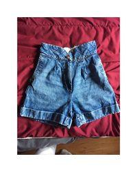 Short denim, jean bleu Sandro en coloris Blue