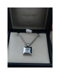 Pendentif, collier pendentif or blanc argent Chopard en coloris Metallic