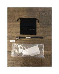 Bracelet cuir noir Marc Jacobs en coloris Black