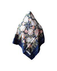 Foulard soie bleu Dior en coloris Blue