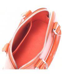 Sac à main en cuir cuir irisé Alma orange Louis Vuitton
