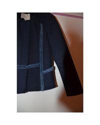 Veste coton bleu Maje en coloris Blue