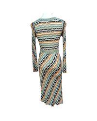Robe mi-longue synthétique multicolore Missoni
