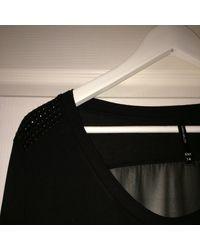 Top, tee-shirt viscose noir Karen Millen en coloris Black