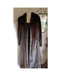 Manteau en fourrure fourrure marron Balmain en coloris Brown