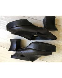 Sandales à talons cuir noir Sonia by Sonia Rykiel en coloris Black