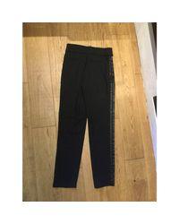 Pantalon large laine noir Marc Jacobs en coloris Black
