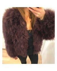 Veste plume violet Sonia Rykiel en coloris Purple