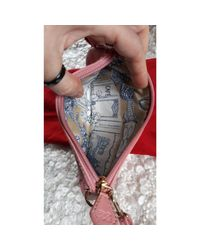 Pochette cuir rose Lancel en coloris Pink