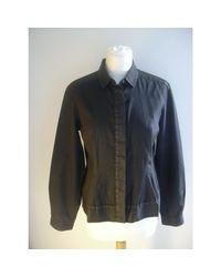 Blouse coton noir Dries Van Noten en coloris Black