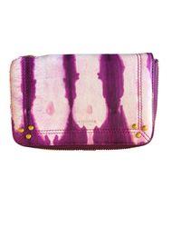 Portefeuille cuir violet Jérôme Dreyfuss en coloris Purple