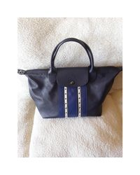 Sac à main en cuir cuir bleu Longchamp en coloris Blue