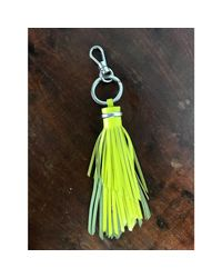 Porte-clés cuir vert Lancel en coloris Green