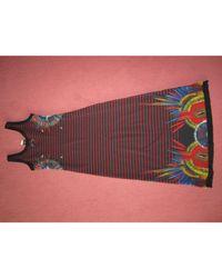 Robe mi-longue polyester multicolore Jean Paul Gaultier