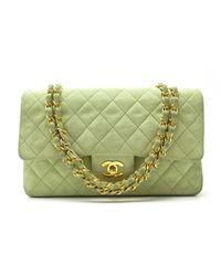 Sac à main en cuir daim - veau velours autre Chanel en coloris Green