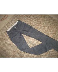 Pantalon droit velours noir Étoile Isabel Marant en coloris Black