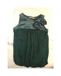 Top, tee-shirt viscose vert Maje en coloris Green