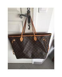 Sac XL en cuir toile Neverfull marron Louis Vuitton en coloris Brown