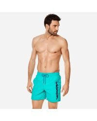 Vilebrequin Blue Swimwear Placed Embroidery Le for men