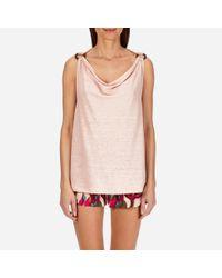 Vilebrequin Multicolor Women Cowl Neck Linen Jersey Top Solid