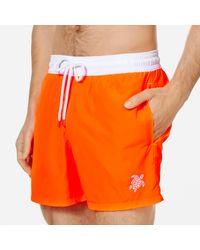 Vilebrequin Ultraleichte und verstaubare Solid Bicolor Fluo Bademode für Herren in Orange für Herren