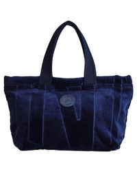 Vilebrequin - Blue Small Terry Cloth Beach Bag Jacquard Solid - Lyst