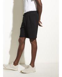 Vince Black French Terry Garment Dye Short for men