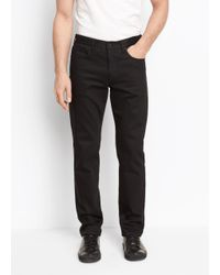 Vince | Black Stretch Twill Trouser for Men | Lyst