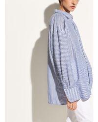 Vince - Blue Classic Stripe Cotton Tunic - Lyst