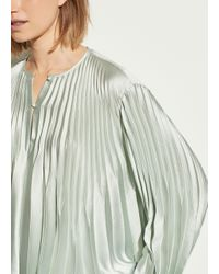 Vince Multicolor Chevron Pleated Blouse