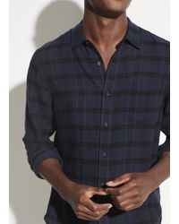 Vince Blue Classic Twill Long Sleeve for men