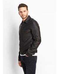 Vince - Black Leather Trucker for Men - Lyst
