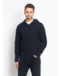 Vince - Blue Waffle Knit Hoodie for Men - Lyst