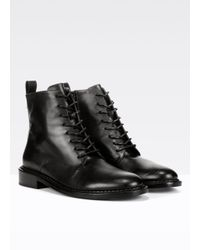 Vince - Black Cabria Leather Boots - Lyst
