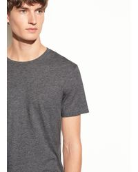 Vince Gray Pima Cotton Short Sleeve Crew Neck Tee for men