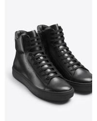 Vince Black Liam High Top Leather Sneaker for men